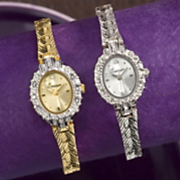 8 diamond Personalized Oval Bracelet Watch