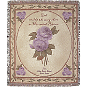 Personalized Mother Grandmother Roses Tapestry Throw