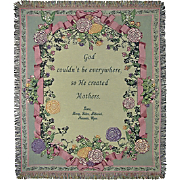 Personalized Mother Grandmother Ribbon Tapestry Throw