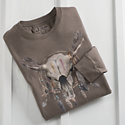 Steer Skull Long sleeve Tee