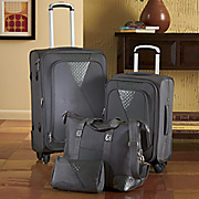 4 piece Gray Diamonds Luggage Set