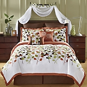 8 piece anna flocked bedding set window treatments