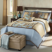 spring arbor comforter set and window treatments