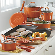 15 piece aluminum with porcelain exterior cookware set