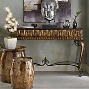 Hammered Metal Console