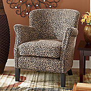 leopard club chair