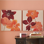 set of 2 floral canvas wall art