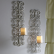 set of 2 scroll sconces