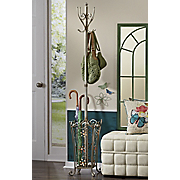 Floral Disposition Coat Rack