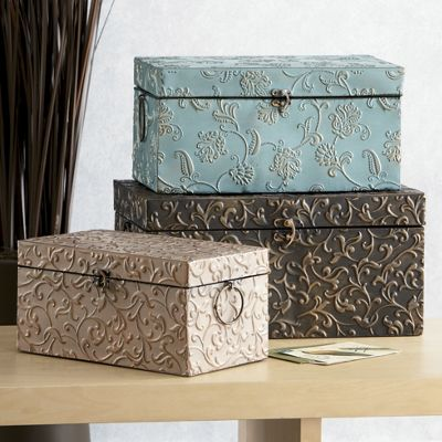 secret garden 3 piece metal box set