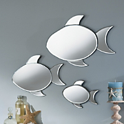3 piece Neptune Fish Mirrors
