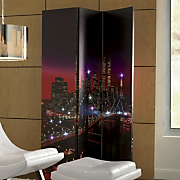 lighted new york night skyline screen