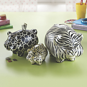 3 piece Safari Pig Banks