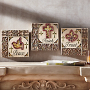 set of 3 inspiration wall plaques