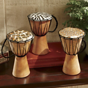 3 piece djembe decorative drum set