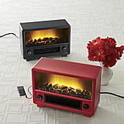 retro fireplace media player