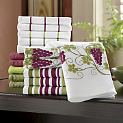 16 piece Grape Towel Set
