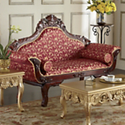 red florencia loveseat