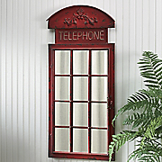telephone booth wall mirror