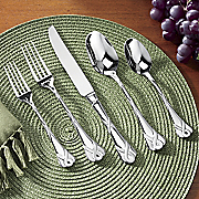 20 piece ribbon and lace frost flatware set