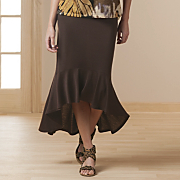 Ruffled Maxi Skirt