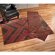 3 piece Southwest Ikat Rug Set