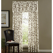 Flocked Scribbles Window Treatments