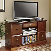 Mega storage Swinging Door Tv Stand