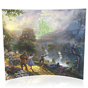 Thomas Kinkade Dorothy Discovers The Emerald City Starfire Prints Glass Print