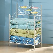 Bright Little Fishes Towel Stacker
