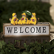 rain birds welcome sign
