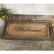 framed welcome mat