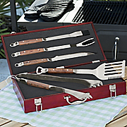 5 piece personalized grill set with case