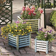 3 piece rustic planter set