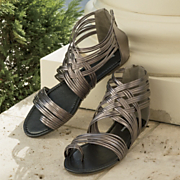 metallic gladiator shoe by seventh avenue