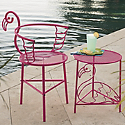 flamingo chair and side table