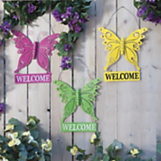 butterfly welcome sign