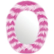Oval Fur Mirror