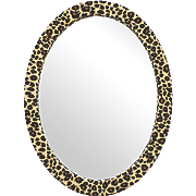 Leopard Oval Mirror