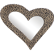 Leopard Heart Mirror