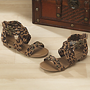 Leopard Ankle Wrap Sandal By Seventh Avenue
