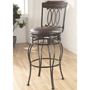 Scrolled Swivel Bar Stool