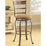 Wood Accent Swivel Bar Stool