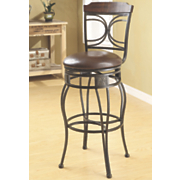 Half Circles Swivel Bar Stool