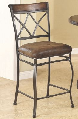 Double X Counter Height Chair
