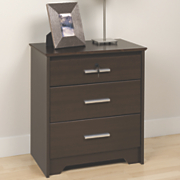 Coal Harbor Tall and Wide 3 Drawer Night Stand W lock