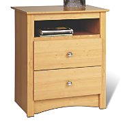 Sonoma Tall 2 Drawer Nightstand W open Cubbie