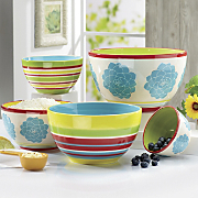 5 piece blooming hill stoneware nesting bowl set