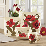 16 piece poppy dinnerware set