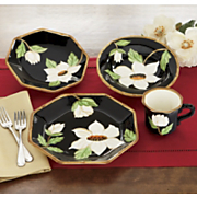 16 piece magnolia blooms dinnerware set